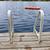 lábnyomok · dokk · nyár · tó · nedves · létra - stock fotó © elenaphoto