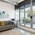 modern · nappali · erkély · üveg · ajtó · mű - stock fotó © elenaphoto