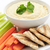 hummus with pita bread and vegetables stock photo © elenaphoto