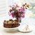 chocolate cake with flowers stock photo © elenaphoto
