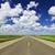 прямой · дороги · Blue · Sky · белый · пушистый · облака - Сток-фото © elenaphoto