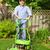 Man mowing lawn stock photo © elenaphoto
