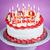 именинный · торт · свечей · сжигание · пластина · розовый · вечеринка - Сток-фото © elenaphoto