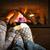ayaklar · çift · şömine · aile · erkek · mutluluk - stok fotoğraf © elenaphoto