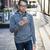 男 · 携帯電話 · 徒歩 · 通り · 若い男 · 携帯電話 - ストックフォト © elenaphoto