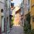 aldeia · rua · França · estreito · em · torno · de · canto - foto stock © elenaphoto