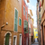 old town street in villefranche sur mer stock photo © elenaphoto