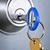 laiton · porte-clés · touches · isolé · blanche · métal - photo stock © elenaphoto