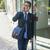 genç · Asya · adam · gözlük · konuşma - stok fotoğraf © elenaphoto