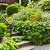 jardim · pedra · natural · casa · verde · flores - foto stock © elenaphoto