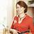 donna · cucina · home · sorridere · donna · matura - foto d'archivio © elenaphoto