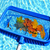 hojas · piscina · limpieza · piscina · caída · azul - foto stock © elenaphoto