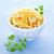 casero · ensalada · de · col · blanco · tazón · plato · dieta - foto stock © elenaphoto