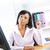 negro · mujer · de · negocios · de · trabajo · escritorio · jóvenes · mujer · de · negocios - foto stock © elenaphoto