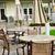 patio · chaises · parapluies · maison · métal - photo stock © elenaphoto
