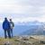 excursionistas · montanas · escénico · vista · naturaleza - foto stock © elenaphoto