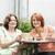 famille · séance · patio · souriant · femme · fille - photo stock © elenaphoto