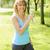 フィットネス女性 · 飲料水 · トレーニング · 外 · を実行して · 訓練 - ストックフォト © elenaphoto
