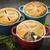 caseiro · três · carne · tortas · garfo - foto stock © elenaphoto