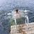 tinilány · úszik · tó · tinilány · csobbanás · dokk - stock fotó © elenaphoto