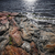 kő · védtelen · színes · egyenetlen · tó · part - stock fotó © elenaphoto