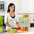 овощей · кухне · улыбаясь · черную · женщину - Сток-фото © elenaphoto