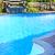 Schwimmbad · Wasserfall · Freien · Wohn- · Blumen · Wasser - stock foto © elenaphoto