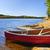 rosso · canoa · shore · lago · due · fiumi - foto d'archivio © elenaphoto