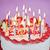 именинный · торт · свечей · сжигание · продовольствие · вечеринка - Сток-фото © elenaphoto