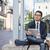 délkelet · ázsiai · üzletember · ül · egészalakos · vonzó - stock fotó © elenaphoto