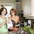 madre · figlia · pulizia · piatti · donna · cucina - foto d'archivio © elenaphoto