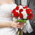 bride and groom with bridal bouquet stock photo © elenaphoto
