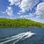 boating on lake stock photo © elenaphoto