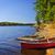 canoe on shore stock photo © elenaphoto