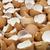 сломанной · куриные · пусто · коричневый · фон - Сток-фото © elenaphoto