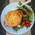 caseiro · refeição · salada · carne · torta - foto stock © elenaphoto