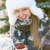young girl with cell phone in winter stock photo © elenaphoto