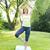 соответствовать · женщины · дерево · создают · фитнес · студию - Сток-фото © elenaphoto