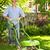 gramado · homem · jardinagem · céu · flor · casa - foto stock © elenaphoto