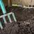 tuin · vork · zwarte · bodem · houten · hout - stockfoto © elenaphoto