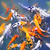 laranja · carpa · koi · azul · boca - foto stock © elenaphoto