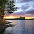 dramatic sunset at lake stock photo © elenaphoto