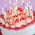 именинный · торт · свечей · сжигание · розовый · продовольствие - Сток-фото © elenaphoto