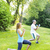 personal trainer with client exercising outside stock photo © elenaphoto