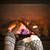 láb · kandalló · meleg · gyapjú · zokni · tűz - stock fotó © elenaphoto
