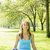 ioga · cobra · pose · mulher · grama · verde · parque - foto stock © elenaphoto