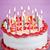 именинный · торт · свечей · белый · рождения · торт - Сток-фото © elenaphoto