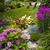 kert · kő · kocsifelhajtó · természetes · tereprendezés · ház - stock fotó © elenaphoto