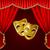 幸せ · ドラマ · マスク · 実例 · 白 · 顔 - ストックフォト © elenashow