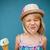 giovane · ragazza · cono · gelato · cute · divertente · fuori - foto d'archivio © ElinaManninen